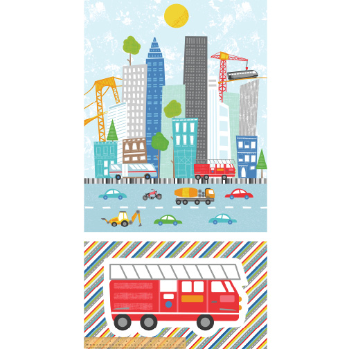 Around Town - City Works 24 Playmat Panel | Windham SKU# 51836-X