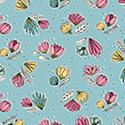Catnip Small Floral Aqua 50824-3