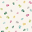 Catnip Multi Pawprints on White