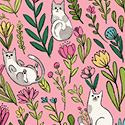 Catnip Flower Cats Pink 50822-2