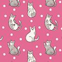 Catnip Happy Cats Fuschia 50823-5