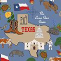Texas Fat Quarter by Sophia Santander for Windham Fabrics