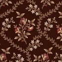 Rosewater brown with small floral stripe
