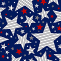 Brave & Free Striped Stars 50120-2 Navy